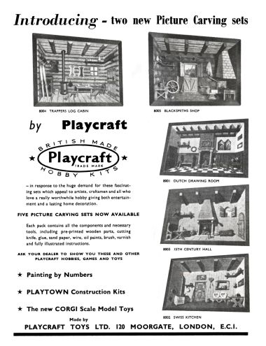 1957: Picture Carving Sets, Hobbies Annual