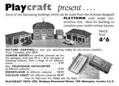 "1955: ""Playtown"" and other Playcraft products"