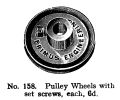 Pulley Wheels with set screws, Primus Part No 158 (PrimusCat 1923-12).jpg