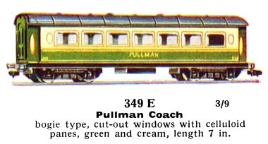 1937: 349E Green and cream Pullman coach