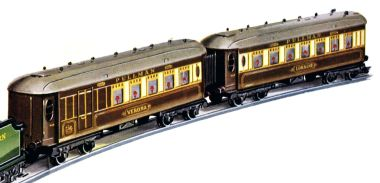Verona No.2 Special Pullman Composite Coach, image, cropped from the 1938 Hornby Book of Trains