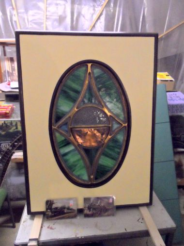 Oval Pullman Stained Glass Window The Brighton Toy And