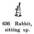 Rabbit, sitting up, Britains Farm 636 (BritCat 1940).jpg