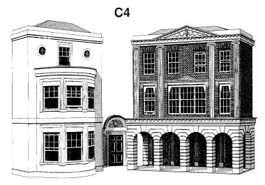 Regency Period Shops and House, low-relief models, Superquick C4