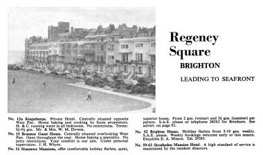 1960s: Advert for some of the hotels in Regency Square