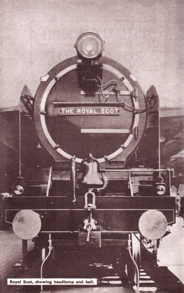 1933: Royal Scot fitted out with a bell and headlamp, ready for the US tour