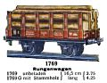 Rungenwagen - Timber Wagon with Stanchions, Märklin 1769 (MarklinCat 1939).jpg