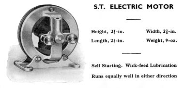 "1965: ""S.T."" Electric Motor, Stuart Turner"