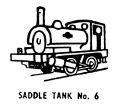 Saddle Tank locomotive, lineart (Kitmaster No6).jpg