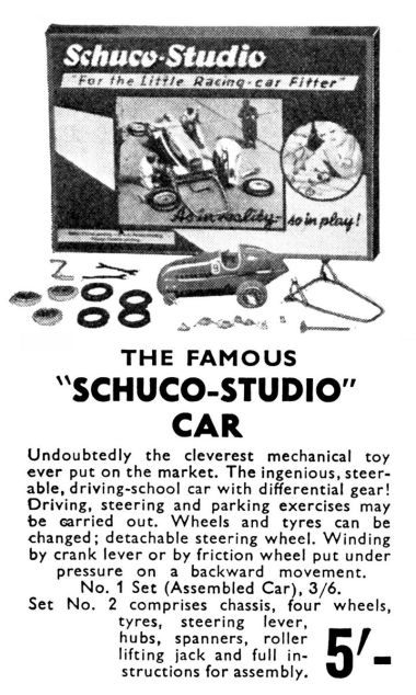 "1936: ""Schuco Studio"" constructional racing car advert"