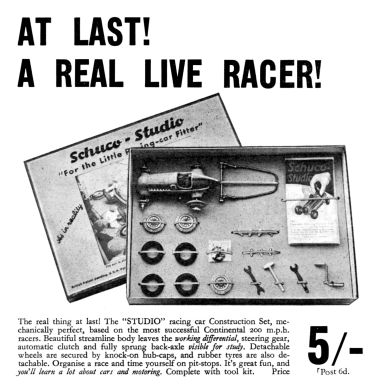 1936: Schuco Studio constructional racing car advert