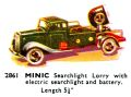 Searchlight Lorry, with electric searchlight and battery, Minic 2861 (TriangCat 1937).jpg
