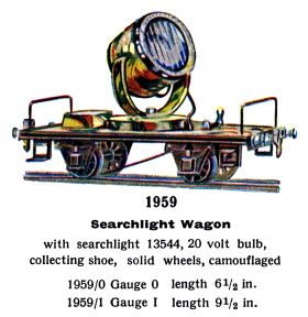 1936: Searchlight Wagon, Märklin 1959