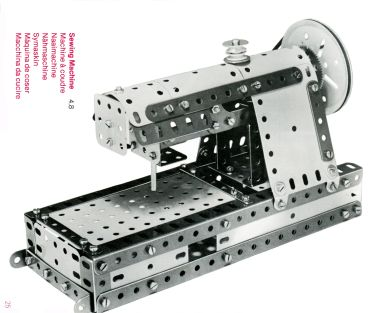 1978: Meccano design for a model sewing machine with more modern styling