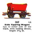 Side tipping Wagon, 00 gauge, Märklin 362 (Marklin00CatGB 1937).jpg