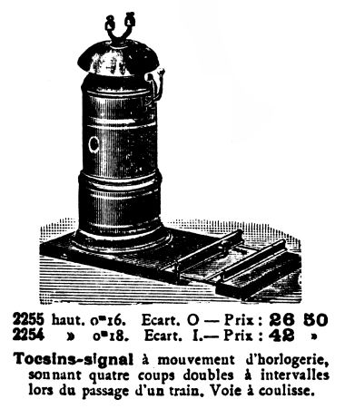 ~1921: Track-operated Signal Bell, Märklin 2254