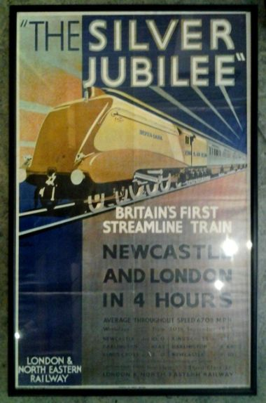 "Poster for the streamlined ""The Silver Jubilee"" train service"
