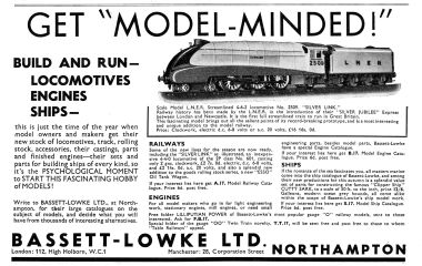 "1936: ""Get Model Minded"", advert for Bassett-Lowke's model of 2509 Silver Link"