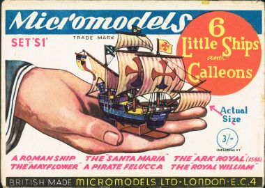 "Micromodels S1: ""Six Little Ships and Galleons"""