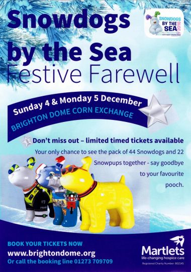 "Snowdogs by the Sea 2016, ""Festive Farewell"" event leaflet"