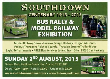 Southdown Bus Rally,Sunday 2nd August 2015