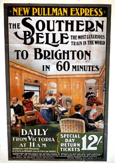 "Southern Belle ""New Pullman Express"" poster"