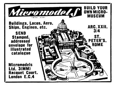 1954: St Peter's Basilica, Micromodels ARC XXII