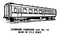 Standard Corridor Second Class carriage, lineart (Kitmaster No14).jpg