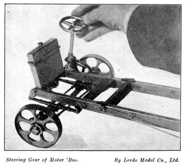 Motor bus chassis and steering gear, Leeds Model Company