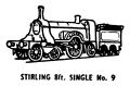 Stirling 8ft Single locomotive, lineart (Kitmaster No9).jpg