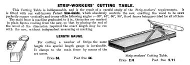 1916: Strip-Worker's Cutting Table