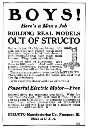 1915: Structo advert, Popular Mechanics