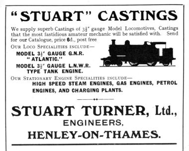 A Stuart Turner castings advert from 1910