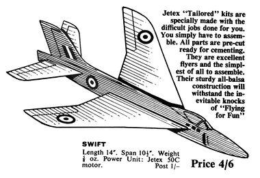 Jetex-powered model aircraft