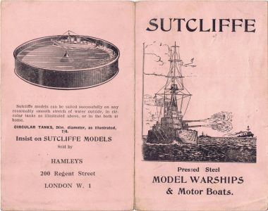 1920s?: Undated four-page folded leaflet showing Sutcliffe's early spirit-fired range