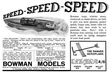 "1933: ""SPEED SPEED SPEED"", Bowman Boats"