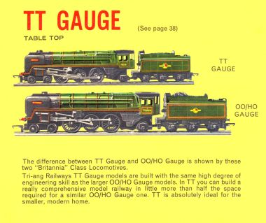 1963: TT Gauge and 00/H0 gauge compared, Tri-ang Railways