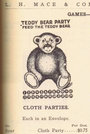 "1907 Teddy Bear game. Note that the ""cute"" baby bear still has fangs"