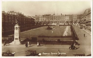 ~1920s: Tennis games underway on Regency Square