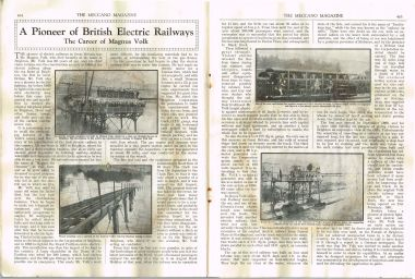 1937: Magnus Volk, the Volks Electric Railway, and the Daddy-Long-Legs (Meccano Magazine)