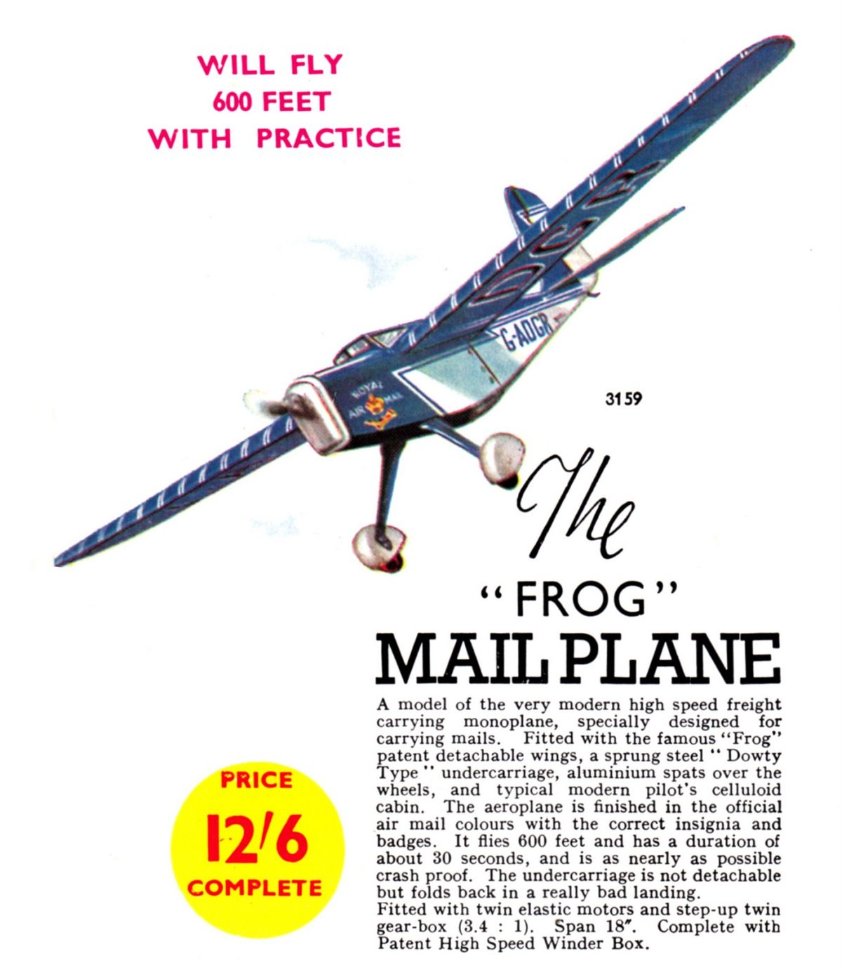 FROG Mailplane, Flying Model (Triang)