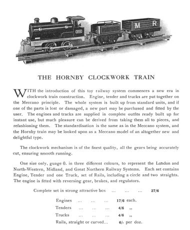 Full-page catalogue description, possibly from 1920