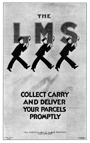 "1929 poster: ""The LMS Collect Carry and Deliver your Parcels"""