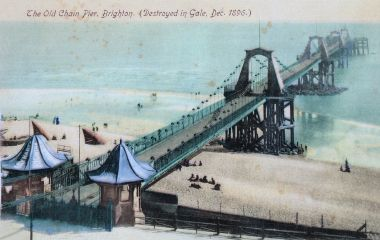 """The Old Chain Pier, Brighton"", postcard"
