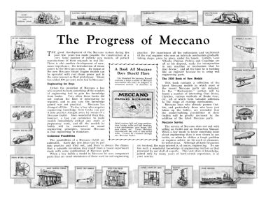 """The Progress of Meccano"", article, 1930"