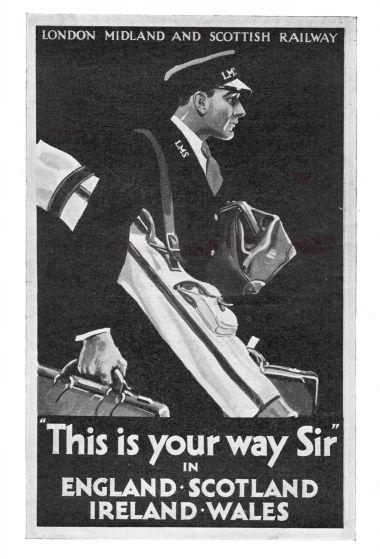 "1928: poster art, ""This is your way, Sir"""