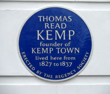 Commemorative blue plaque for Thomas Kemp