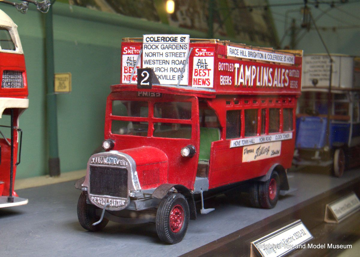 Thomas Built Buses >> Thomas Tilling petrol-electric bus, later (scratchbuilt, Ken Allbon) - The Brighton Toy and ...