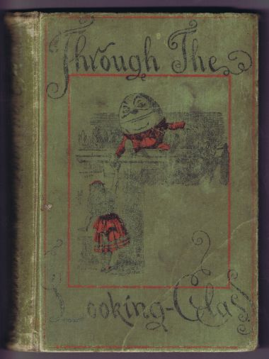 "Cover of an 1894 edition of ""Through the Looking-Glass"""