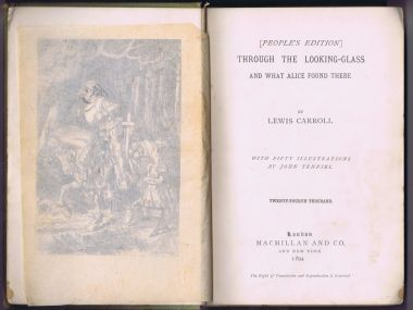 "Title page of Through the Looking Glass"", 1894 edition"